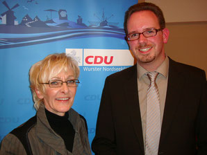 Marcus Itjen mit Astrid Vockert MdL