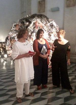 Da sx, Susanne Kessler, Maria Arcidiacono e Lori Adragna