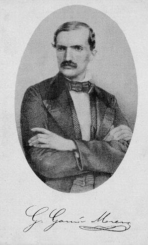 Gabriel García Moreno, al rededor de la edad en que cursó sus estudios.
