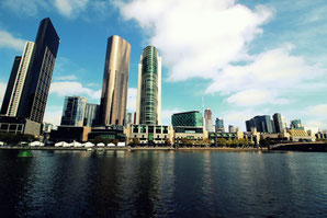 Melbourne, Austalien, Yarra River, Skyline