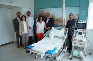 v.l.: Prof. Dr. Wolfgang Baier, Prof. Dr. Klaudia Winkler, Prof. Dr. Heinz Scholz, Peter Bernsdorf, Kerstin Hartmann, Landrat Willibald Gailler, Peter Weymayr