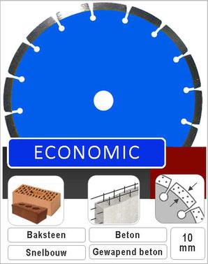 prodito economic diamant zaagblad of slijpschijf universeel gebruik in steen beton en gewapend beton 115 125 en 230 voor haakse slijper