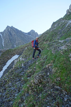 Gross Ruchen Nordwand, Bergtour, Uri, Rampe, Einstiegsrampe