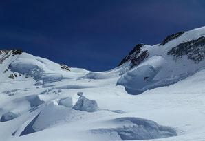 Skihochtour, Monterosa, Silbersattel, Nordend, Dufourspitze