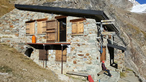 Hochtour, Dent d'Hérens, Rifugio Aosta, Winterraum, Hüttenweg