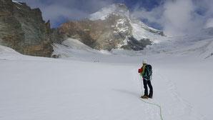 Hochtour Dent d'Hérens, Glacier des Grandes Murailles