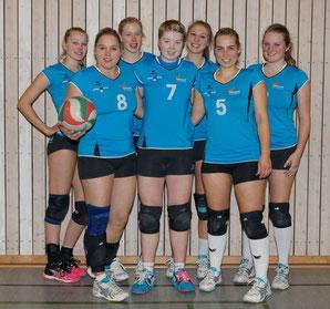 Die 1. Damen sind (von links): Jessi, Katja, Rieke, Ailyn, Milena, Esther, Ines. Es fehlen: Christina, Anita, Clara und Lea