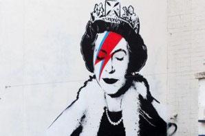 Uno de los muchos graffitis de Bansky en Londres que homenajean a Bowie