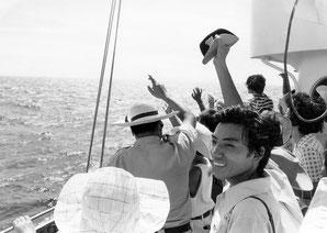第5管区海上保安本部の「巡視船乗船見学会」にて