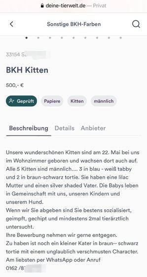 Betrug im Internet, Quelle: deine-tierwelt.de, 22.08.2020