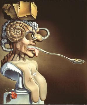 """Шедевры Театра-музея Дали. """"Портрет Пабло Пикассо в 21-ом веке"""" (1947)"""