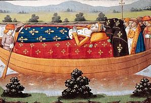 Isabeau de Baviere- smr par Martial d'Auvergne - (Source : Larousse. License sous domaine public Wikimedia Commons - http://bit.ly/1K9vRHH)
