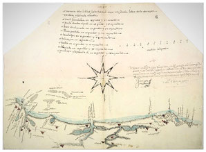 Mapa de Tlacotalpa del navegante sevillano Francisco Gali. / US