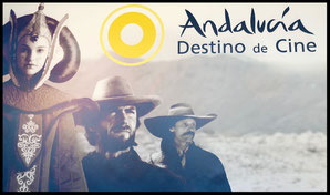 Cartel de presentación de la web Andalucía Destino de Cine