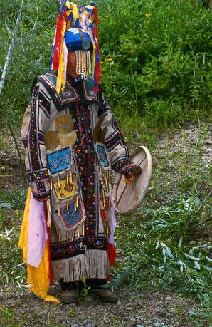Chuonnasuan, Schamane des tungusischen Volkes der Oroken, Foto von Richard Toll, 1994