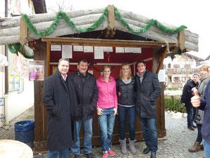 Berühmter Besuch am FC-Stand: Maria Höfl-Riesch wird sicher auch dieses Jahr mit Ihrem Mann Marcus Höfl vorbeischauen