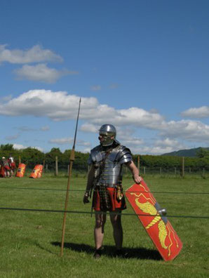 A Roman Soldier of the 'Ermine Street Guard'.