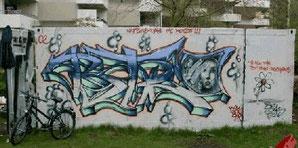 Graffiti - überall nicht gern gesehen, außer auf dem Kifo-Lagercontainer, der ersten legalen Graffiti-Fläche in Buxtehude