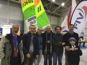 Da sx Luca Campati e Maurizio Leone, Paolo Pellicano e Andrea Minoni, Fabio Palermi e Andrea Galli