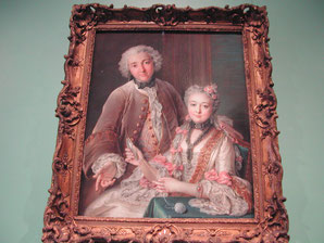 Double Portrait Presumed to Represent François de Jullienne and his Wife Élisabeth de Séré de Rieux, Charles Antoine Coypel, 1743, Metropolitan Museum of Art, picture taken by Nina Möller