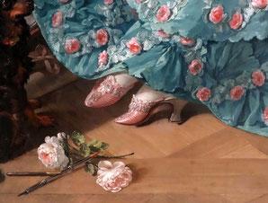 Detail from Madame de Pompadour, Francois Boucher, 1756, Neue Pinakothek München. picture taken by Nina Möller