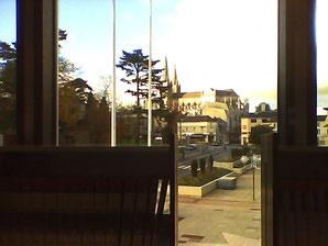 Ce que je voit tous les mercredis par la fenêtre de la bibliothèque.