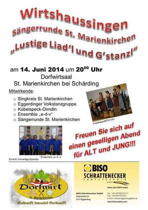 Plakat Wirtshaussingen 2014