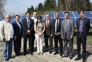 Visit of Solarpark in Pilsting / Lower Bavaria by delegation from Kuwait