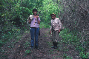 Rosita and Don Elijio Panti herbing in the jungle
