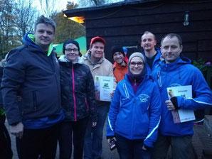 V.L.: Dirk, Valeska, Torsten, Dennis, Annette, Ludger, Michael