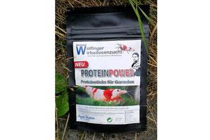 Michael Wolfinger´s Proteinpower enthält alle für Garnelen notwendigen Nährstoffe an Aminosäuren und Proteinen.