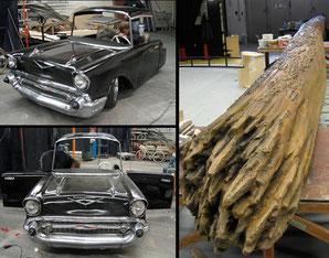 """Herstellung der Cadilliac Verkleidung und eines 14 m langen Baumes für das Musical """"Dirty Dancing"""""""