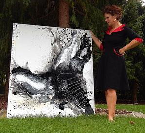 schwarz weiß bild gemalt