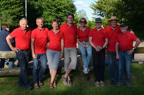 Team Klack3: Heinrich M., Jürgen D., Maria D., Jürgen G., Addi G., Helmut L. Peter H, Rolf B.