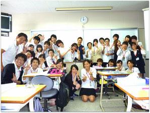 鹿児島医療技術専門学校 言語聴覚療法学科 第12期生と(2013年7月25日)