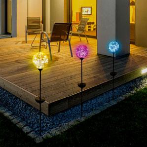 ©Nortene, globe solaire en verre coloré OHPEA COLOR