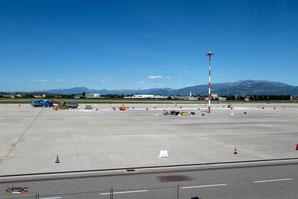 Aeroporto di Verona - lavori di adeguamento del piazzale aeromobili (foto PSC - Olivati)