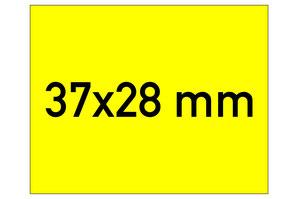 Etiketten 37x28 mm gelb