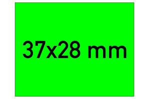 Etiketten 37x28 mm grün