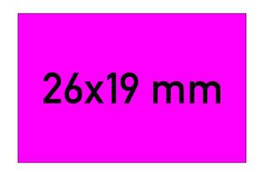 Etiketten 26x19 mm rechteckig magenta