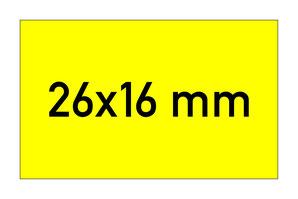 Etiketten 26x16 mm rechteckig gelb