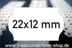 Etiketten 22x12 mm