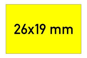 Etiketten 26x19 mm rechteckig gelb