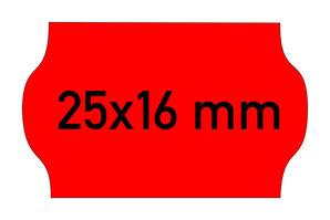Etiketten 25x16 mm Contact rot
