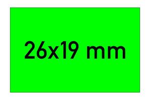 Etiketten 26x19 mm rechteckig grün