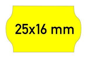 Etiketten 25x16 mm Contact gelb