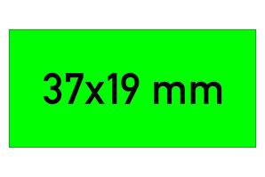 Etiketten 37x19 mm grün