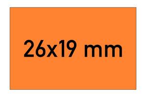 Etiketten 26x19 mm rechteckig orange