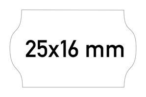 Etiketten 25x16 mm Contact weiss