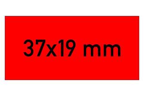 Etiketten 37x19 mm rot